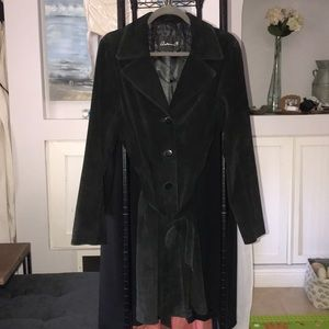 Beautiful black suede belted coat